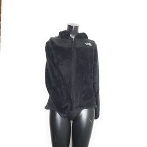 North Face Black Fleece Zip Up Jacket Womens